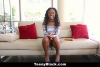 Chocolate teen pounded in st time
