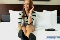 Amateur teen redhead casting fuck for cash