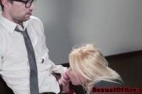 Secretary gets cum on tits