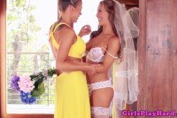 Pierced busty lesbian queens bride