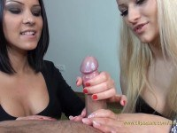 Girl edging handjob