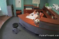 Fucks patient at reception