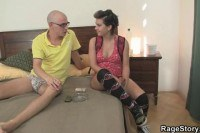Cutie takes it real rough on the bed