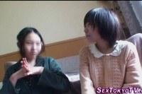 Asian lesbian teen toyed