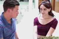 Teen stepsis gets rimmed