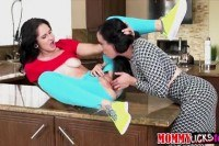 Hot naughty lesbian foreplay