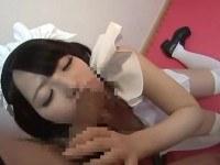 Asian blowjob hairy pussy maid