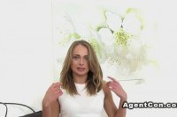 Euro blonde s agent on casting couch