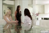 Vanessa abigail and charlotte in a three