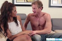Brunette gabriella ford gets fucked by dad