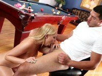Vanessa cage gets bent over the pool table