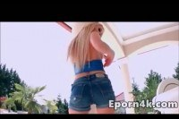 Busty blonde teen gets anal