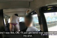 Tattooed brit ed in taxi