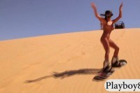 Babes sand boarding and dirty biking while