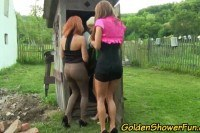 Outdoor whores pissing