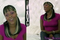 Ebony teen jizzed over