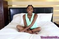 Ebony teen fucked hard