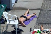 Teen getting a tan