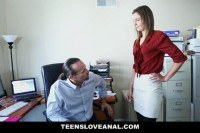 Secretary ass fucked by her boss
