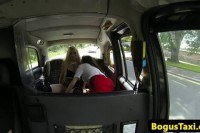 Slut assfucked during ffm fun in cab