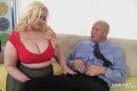 Blonde bbw klaudia kelly takes a fat dick
