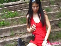 Exhibitionist horny in the park