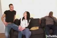 Enjoys big cock in her ass while husband