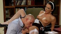 French maid gets stabbed by huge dick