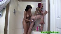 Bell peaks and rachel starr sexy shower
