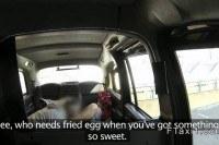 Redhead sucks huge cock pov in cab