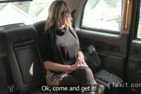 Milf s in taxi in public
