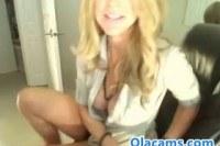Busty blonde live on webcam