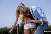 Teen joanna blowjobs and pounded outdoors