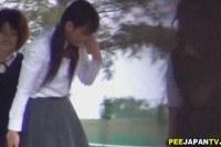 Asian schoolgirls tinklin
