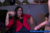 Hos stroke cocks at real office party