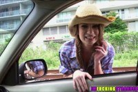 Brunette dillion carter begs for a ride fr