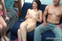 Teens stripping and fucking in group