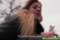 Euro amateur is a whore for cash