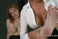 Hirsute pussy toying in dungeon