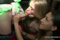 Girls pounded hard at xmas vip party