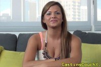 Brunette at casting couch x