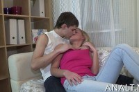 Hammering for cute teen