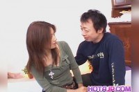 Nanami gets cocks in mouth and hairy cunt