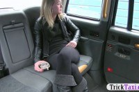 Amateur blonde passenger screwed in the