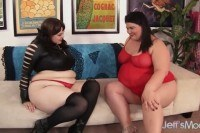 Lesbian plumpers buxom bella and juicy