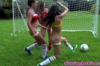 Rodriguez squirts in lesbian trio