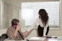 Slut alexa seduces her officemate for some