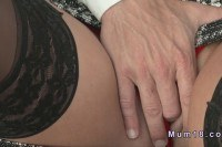 Mature lady in stockings fucking