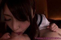 Cocksucking asian schoolgirl facialized
