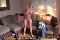 Blonde british amateur has casting
